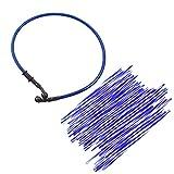 JRL Blue Wheel Spoke Wraps Skins Coat Trim