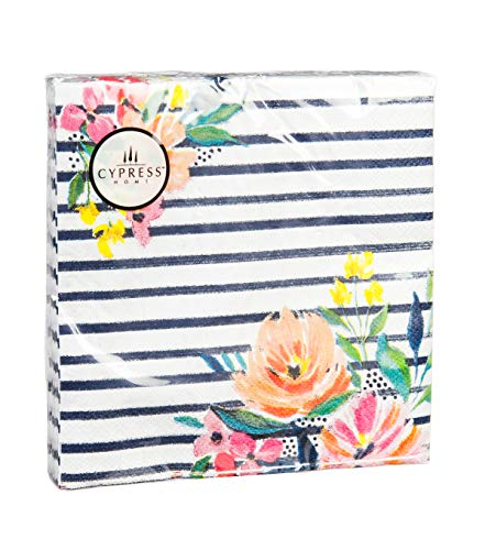 Cypress Home Floral Party Paper Luncheon Napkin, 20 Count