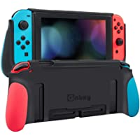 Protective Case for Switch,Dockable Cover Case for Switch,Grip Cover in Silicone with Anti-Scratch and Shock-Absorption…
