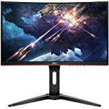 "AOC C24G1 24"" Curved Frameless Gaming Monitor, FHD 1080p, 1500R VA panel, 1ms 144Hz, FreeSync, Height adjustable, VESA, 3-Year Zero Dead Pixels"