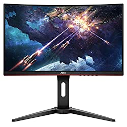 """24-inch class curved gaming monitor free sync support ensures a stutter-free and tear-free gaming experience at any frame rate. Equipped with a curved 23. 6"""" VA panel, the C24G1 displays a super-detailed full HD resolution (1920x1080 pixels) at a scr..."""