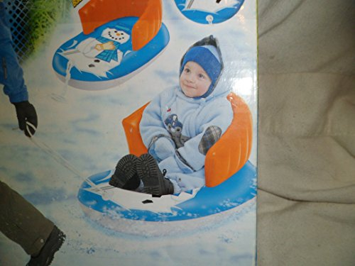 Kiddie Slippery Snowman Pull Sled With Backrest (Tube Bob Snow Uncle)