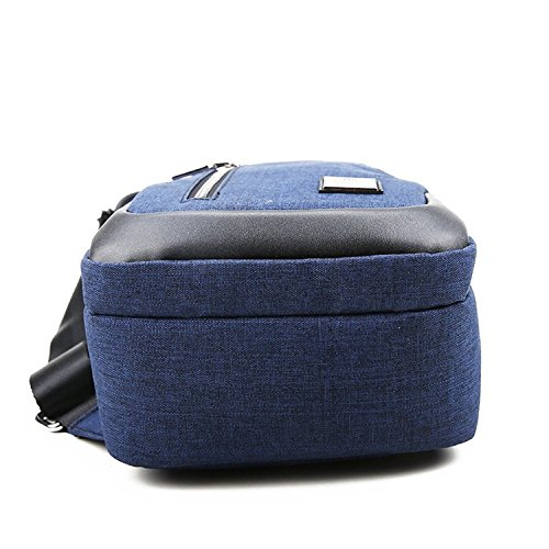 Sling Bag Chest Shoulder Backpack Crossbody Bags for Men Women Travel Outdoors (Large blue) by TUOWAN (Image #3)