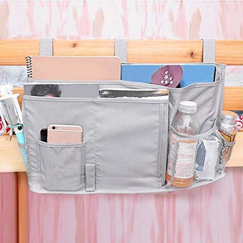 Hanging Storage Bag Holder Bunk Beside Organizer with 8 Pockets for Bunk Dorm Rooms and Hospital Bed Rails MXCELL Bedside Caddy