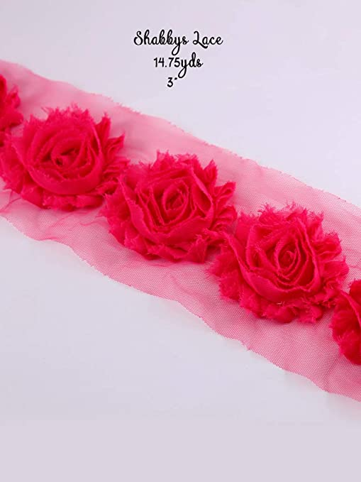 2 yards Colorful Flowers Embroidered lace Trim Ribbon Decor Appliques Sewing