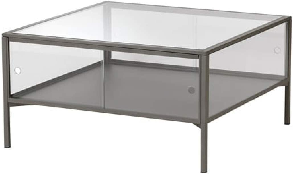 IKEA 204.124.44 Sammanhang - Mesa de café (cristal, 27 1/2 x 27 1/2