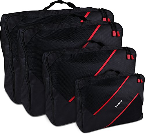 Durable Packing Cubes 4 Piece Set - Luggage Organizers & Packing Organizers - Best For Travel - by Utopia Home