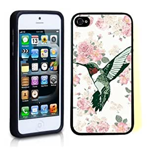 iPhone 5 5S Case ThinShell TPU Case Protective iPhone 5 5S Case Shawnex Vintage Hummingbird Floral