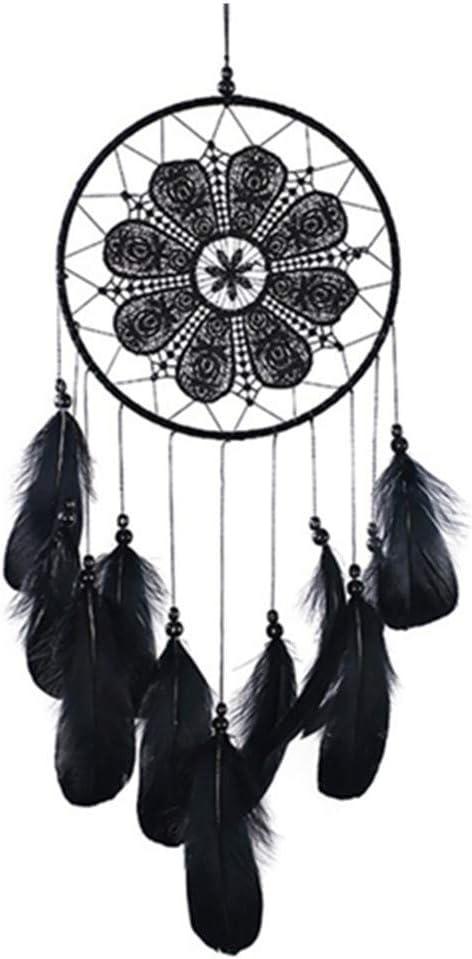 SN White Dream Catcher Wall Hanging Decoration Craft Gift Handmade Feathers Dreamcatcher