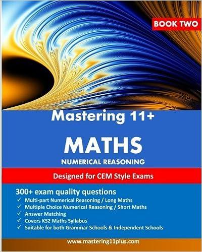 11+ Maths : Mastering 11+ Numerical Reasoning Practice Book 2