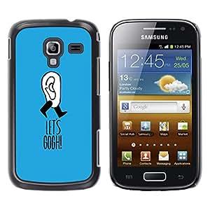 For Samsung Galaxy Ace 2 I8160 / Ace2 II XS7560M Case , Gogh Joke Blue Funny Artist Clever - Diseño Patrón Teléfono Caso Cubierta Case Bumper Duro Protección Case Cover Funda