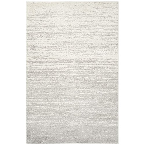 Off White Contemporary Rug (Safavieh Adirondack Collection ADR113B Ivory and Silver Modern Abstract Area Rug (10' x 14'))