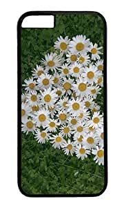 MOKSHOP Adorable Bunch of Daisies Hard Case Protective Shell Cell Phone Cover For Apple Iphone 6 Plus (5.5 Inch) - PC Black