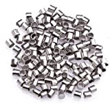 ILOVEDIY 1000pcs Crimp Tubes Gold 2mm Ends Beads for Jewelry Making