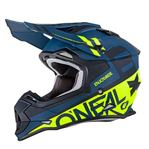 O'Neal Unisex-Adult Off-Road Style 2SERIES Helmet SPYDE black/hi-viz L (Large)