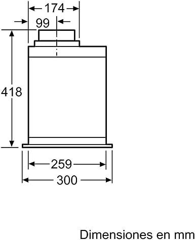 Siemens iQ700 LB89585M - Campana (800 m³/h, Canalizado/Recirculación, A, A, D, 380 m³/h): 441.81: Amazon.es: Grandes electrodomésticos