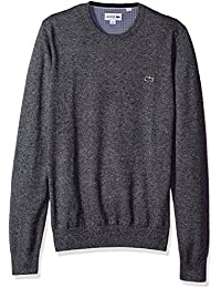 Men's Crewneck Cotton Jersey Sweater with Green Croc