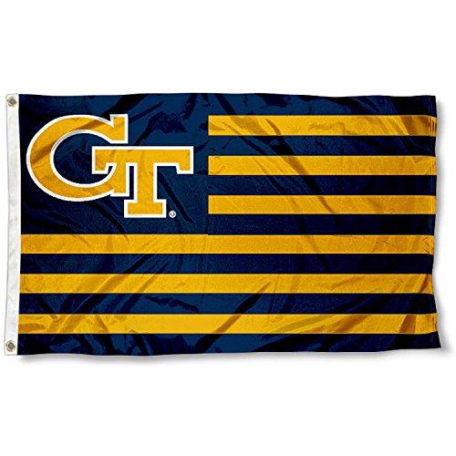 Georgia Tech GT Alumni Nation Stripes Flag