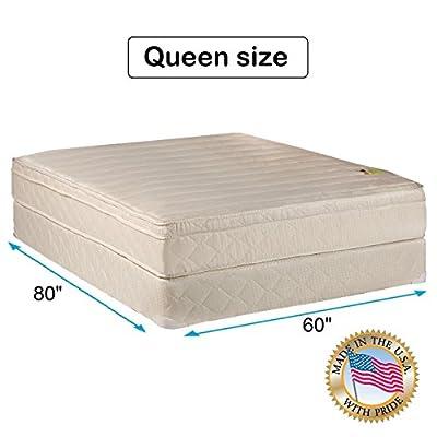 Comfort Pedic Extra Firm Orthopedic Support Mattress set. Queen Size