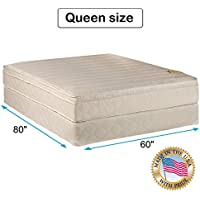 Comfort Pedic Extra Firm Orthopedic Support Mattress set. Queen Size
