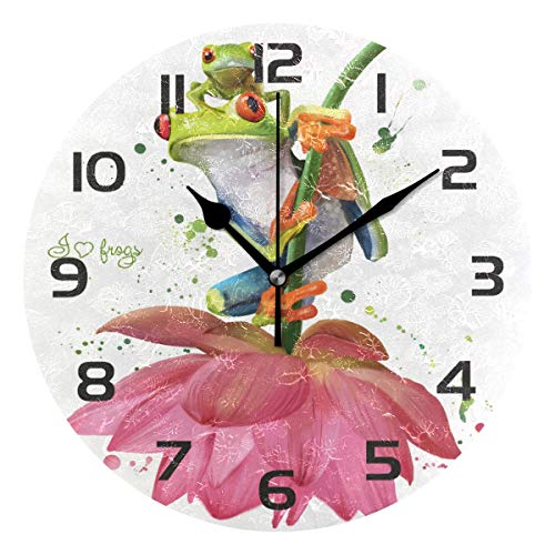 TropicalLife Funny Animal Frog Lotus Flower Decorative Wall