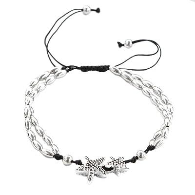 Gespout Bracelets Femme Bijoux Alliages Motif étoile de Mer Cadeau d'anniversaire Réglable Bijoux romantique Bracelet Cadeau de l'amour