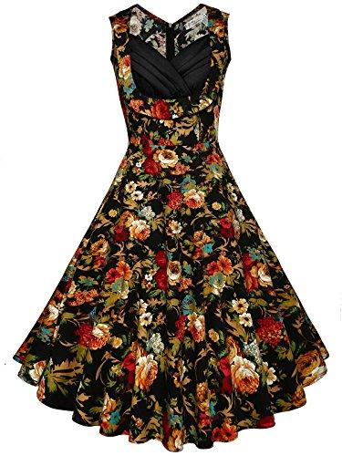 khaki and red dress - 2