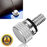"""Seat Bolt Screw Cap Chrome for Harley Davidson Quick Mount Polished Knurled Sides 1/4""""-20 Thread by BenkerMoto"""