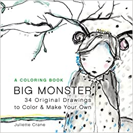 Big Monster Coloring Book: 34 Original Drawings to Relax, Color and ...