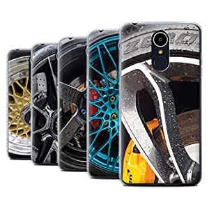 STUFF4 Gel TPU Phone Case / Cover for LG K8 2017/M200 / Pack 20pcs / Alloy Wheels Collection