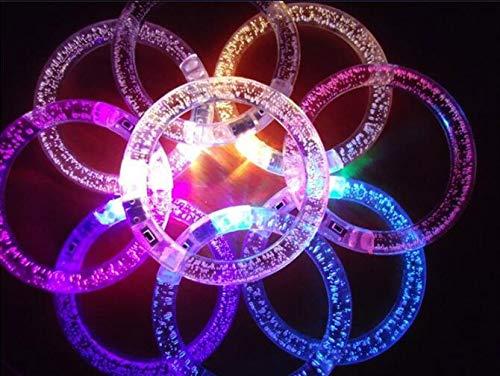 Aquatx Light Up Bracelets Changing LED Bracelet Light up Bracelet Luminous Bracelet for Christmas Party , Clubs by Aquatx