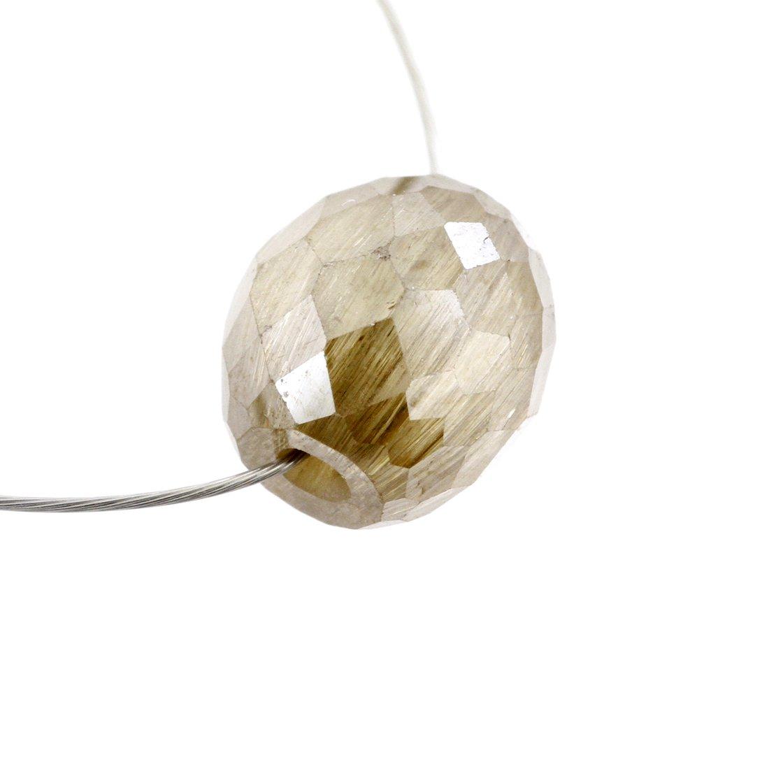 Skyjewels 4.10 Ct 6 mm Certified Loose Champagne Diamond Bead