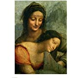 Detail The Virgin St. Anne from The Virgin Child St. Anne Leonardo Da Vinci Art Print, 23 x 30 inches