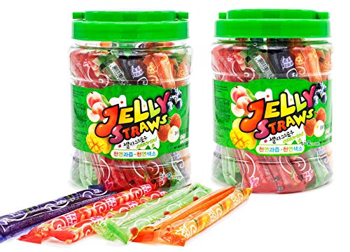 Kids Well Jelly Straw, 28.2oz (Pack of 2) / Freezing jelly / Squeeze Fruitery Fruit Jelly Straws Sticks - Well Bee Bouquet