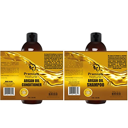Argan Oil Shampoo and Conditioner Set -  Sulfate Free All Or
