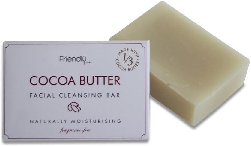 Friendly Soap Natural Handmade Cocoa Butter Facial Bar