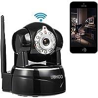 Wireless Camera, UOKOO 1280x720p Wireless Wifi Camera with 2-Way Audio Remote Wireless for Baby Monitor, Nanny Cam, Wireless IP Camera (Black-720p)