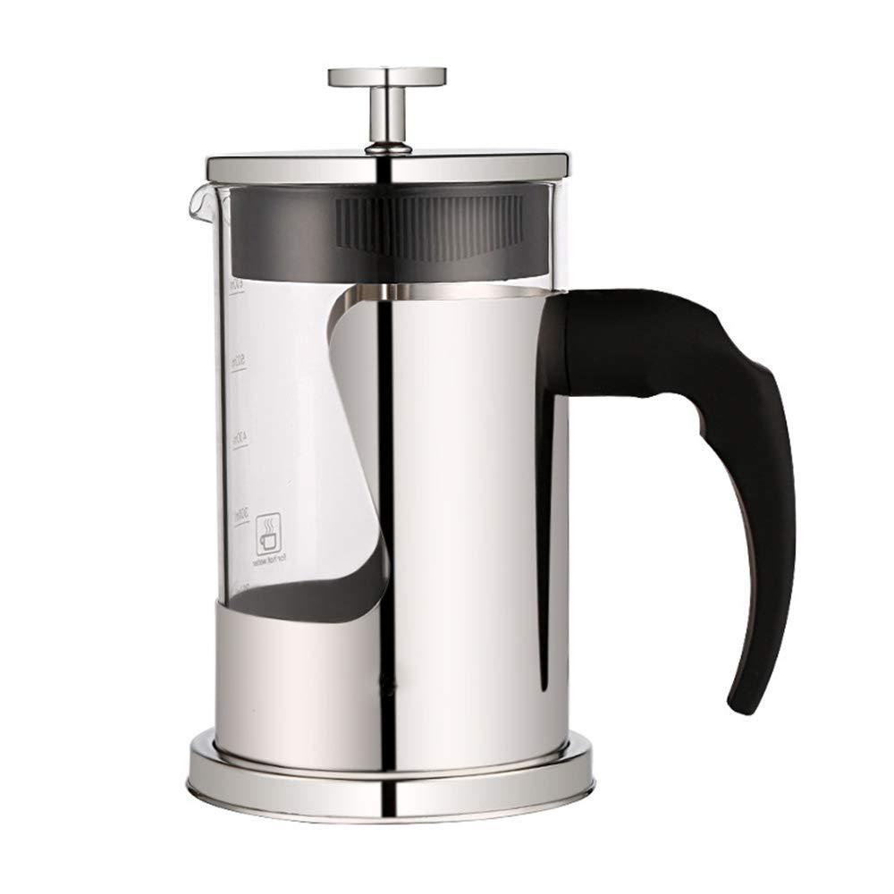 Acquisto BB&ONE – Caffettiera francese in vetro borosilicato, facile da pulire, resistente al calore, isolamento sottovuoto, 100% senza caffè, antiruggine, lavabile in lavastoviglie Prezzi offerta
