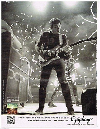 Price comparison product image Epiphone - My Chemical Romance - Frank Iero - 2012 Print Advertisement