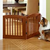 Orvis Panel Zig-zag Dog Gates / 36″ h Four-panel Gate: Covers Up To A 6′ Span, Weighs 28 1/2 Lbs, Cinnamon