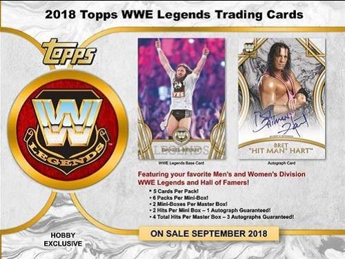 Legends Hobby Box - 2018 Topps WWE Legends OF WWE Wrestling Hobby Box - 12 packs of 5 cards each