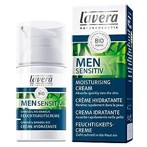 lavera Men Sensitiv Crème Hydratante – vegan – Cosmétiques naturels – Ingrédients végétaux bio – 100% naturel 30 ml