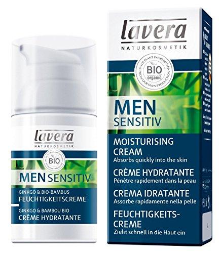 Lavera Natural Daily Moisturizer For Men, Anti-Aging anti Anti-Wrinkle, Long Lasting Moisturization - Sensitive Skin (30ml/1oz)