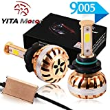 5 3 4 headlight conversion kit - YITAMOTOR Headlight Bulbs Led Conversion Kit 9005 HB3 Led Bulbs 6000K 12V 100W High Power High Low Dual Beam Headlights 100W 10,000LM 6000K White
