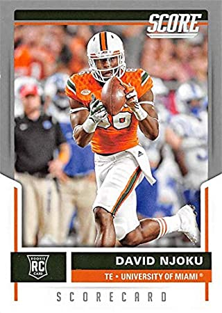 David Njoku Football Card Miami Hurricanes 2017 Score Scorecard