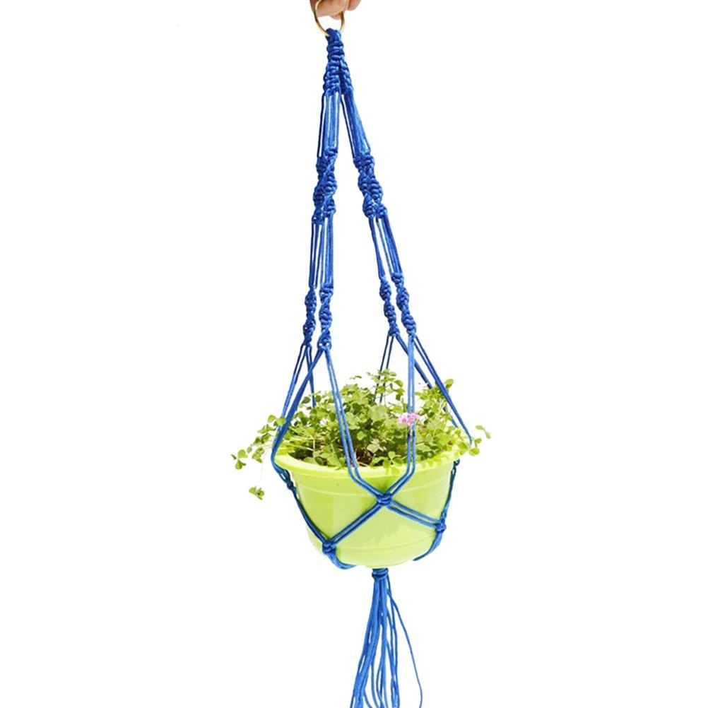 BESTOMZ Pianta Hanger Flower Pot Plant Holder per decorazioni per interni da esterno Balcone (blu)