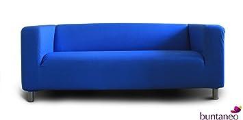 buntaneo Bezug passend für IKEA Klippan 2er-Sofa, Regatta (Blau) - weitere  Farben verfügbar