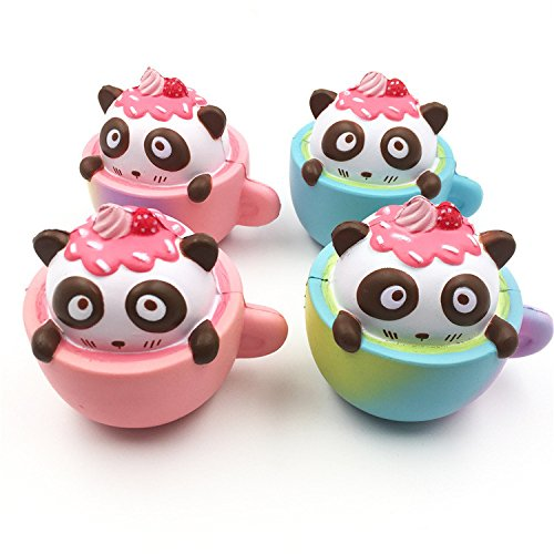 Jujunx Cute Cup Cat Squeeze Slow Rising Toy
