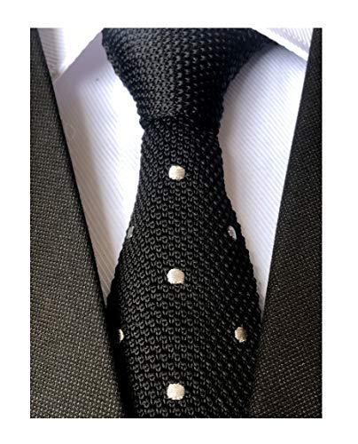 341c152fc30c Men's Skinny Knit Ties Polka Dots Pattern Designer Necktie 2' - Various  Colors