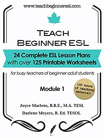 ESL Lesson Plans and Worksheets for Adult Students: Teach ...